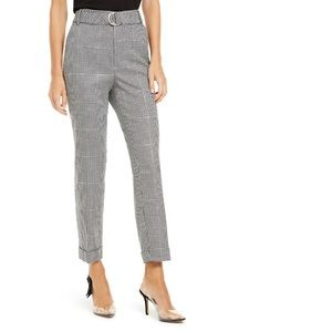 INC Houndstooth-Print Tapered-Leg Pants